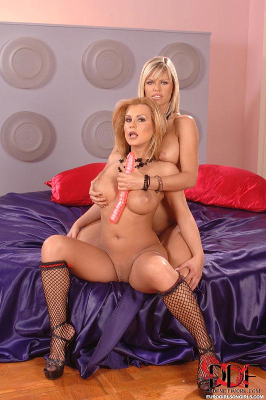 Пышногрудые изящные секс-бомбы Wivien и Dorothy Black получают лесби наслаждение. Порно изящный.
